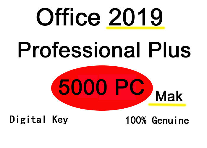 Full Version Microsoft Office 2019 Key Code Support Outlook Suit For 5000 PC